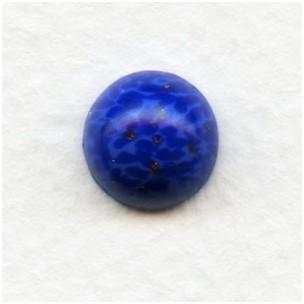 ^Lapis Blue Glass Cabochons 11mm (2)