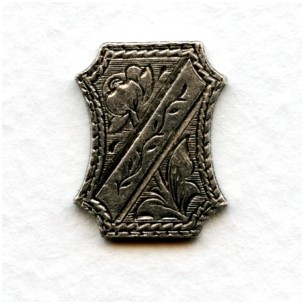 ^Royal Crest Oxidized Silver Medallion 18x14mm (4)