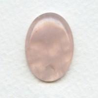 Rose Quartz Gemstone Cabochon 25x18mm (1)