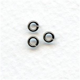 *Tiny Oxidized Silver Jump Rings Round 3mm