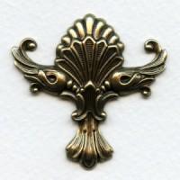Bold Embellishment Oxidized Brass 44mm (1)