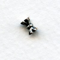 Hour Glass Shape Oxidized Silver Spacer Beads 3x6mm (24)