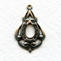 Lucky Pendant Hoops Oxidized Silver 25mm (12)