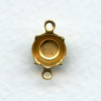 Round Setting Connectors 39ss Raw Brass (12)