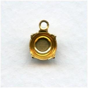 ^Round 6.5mm Settings Raw Brass (12)
