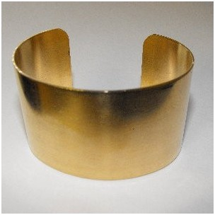 Smooth Raw Brass Cuff 37mm