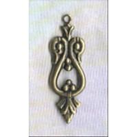 ^Ornate Small Drops 25mm Oxidized Brass (12)