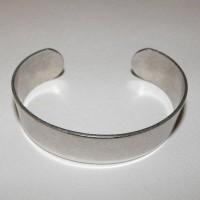 Men's Smooth Oxidized Silver Cuff 19mm (1)