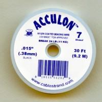 ^Acculon .38mm Black Nylon Coated Beading Wire (30 Ft.)