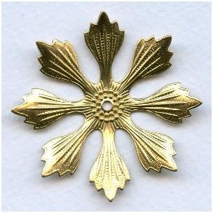 Huge Raw Brass Flower Stampings 49mm (3)