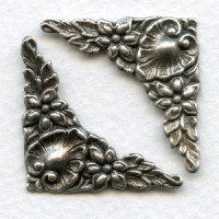 Corner Embellishments Fancy Oxidized Silver (6)