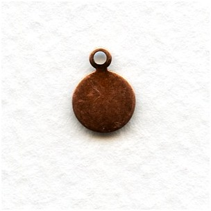 Beaver Tail Oxidized Copper Logo Tags 10mm (24)