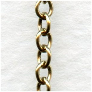 Small Cable Chain Antique Gold 3x2mm Links (3 ft)
