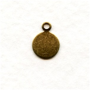 Beaver Tail Oxidized Brass Logo Tags 10mm (24)