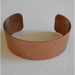 Men's Smooth Oxidized Copper Smooth Cuff 28mm (1)