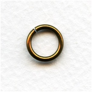 Round Jump Rings 11mm Oxidized Brass 14G (24)