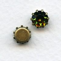 ^Tiffany Set Swarovski Austrian Crystals 35SS Olivine (6)