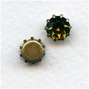 Tiffany Set Swarovski Austrian Crystals 35SS Olivine (6)