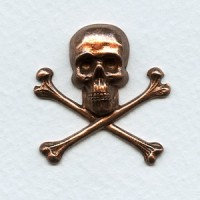 Skull and Crossbones 30x31mm Oxidized Copper (1)