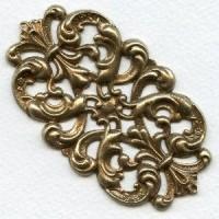 Elegant Dramatic Stamping Oxidized Brass (1)