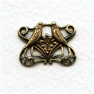Love Bird Connectors Victorian Romance Oxidized Brass (6)