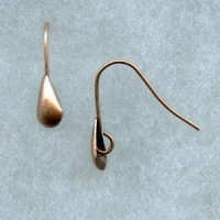 Smooth Shield Earwires with Loop Oxidized Copper