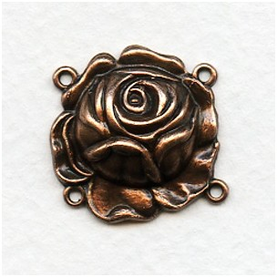 ^The Rose Connector with 4 Loops Oxidized Copper (6)