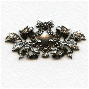 Coat of Arms Oxidized Silver 48mm (1)