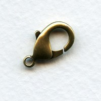 Lobster Claw Clasps 19mm Oxidized Brass (6)