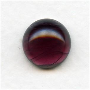 Amethyst Swirls 13mm Glass Cabochon (1)
