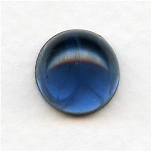 Montana Blue Swirls 13mm Glass Cabochon (1)