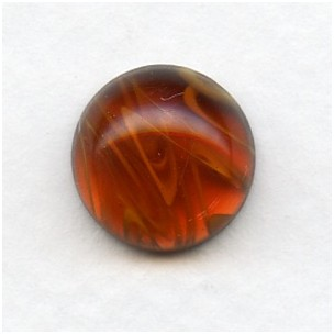 ^Topaz Swirls 13mm Glass Cabochon (1)