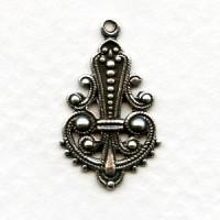Small Pendant Drops 22mm Oxidized Silver (12)