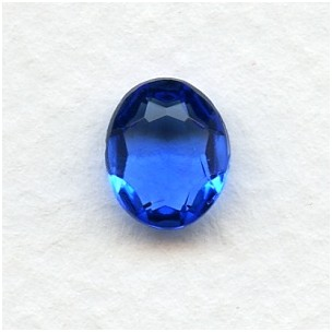 Sapphire Glass Oval Unfoiled Jewelry Stones 10x8mm