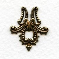 Ornamental Accent Corner 24mm Oxidized Brass (6)