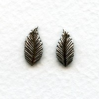 Favorite Leaves 12mm Smaller Size Oxidized Silver (12 Pairs)