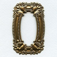 ^Scrollwork Frame Stamping Oxidized Brass 76mm (1)