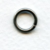 Round Jump Rings 11mm Oxidized Silver 14G (24)