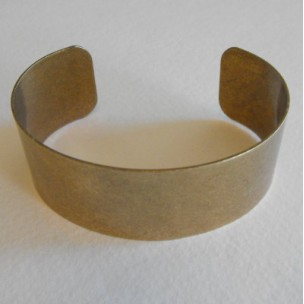 Men's Smooth Oxidized Brass Smooth Cuff 28mm (1)