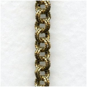 Double Cable Chain Antique Gold Plated Brass