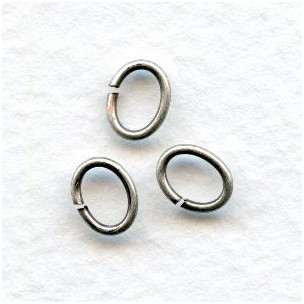 Oval Jump Rings 7x5mm Oxidized Silver (100+)