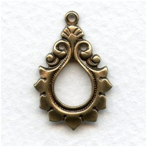 Gothic Style Larger Pendants Oxidized Brass (6)