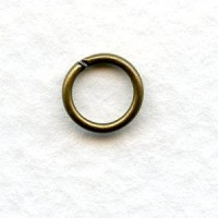 Round Jump Rings Oxidized Brass 7mm (100)