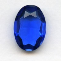 Sapphire Glass Oval Unfoiled Jewelry Stone 25x18mm
