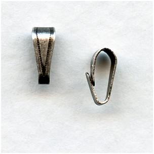 Small Bails Oxidized Silver 8mm