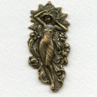 Flowing Goddess Repousse 53mm Oxidized Brass