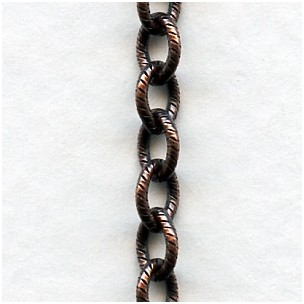 Textured Cable Chain Oxidized Copper The BEST! (3ft)