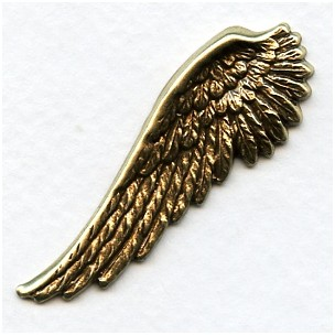 Spectacular Wings Right Side Oxidized Brass 52mm Tall (2)