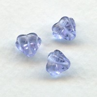 Alexandrite Czech Glass Bead Caps Tulip Beads 6x8mm