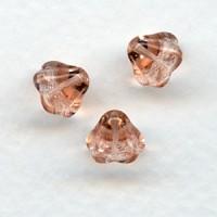 Rosaline Glass Bead Caps Tulip Beads 6x8mm (24)